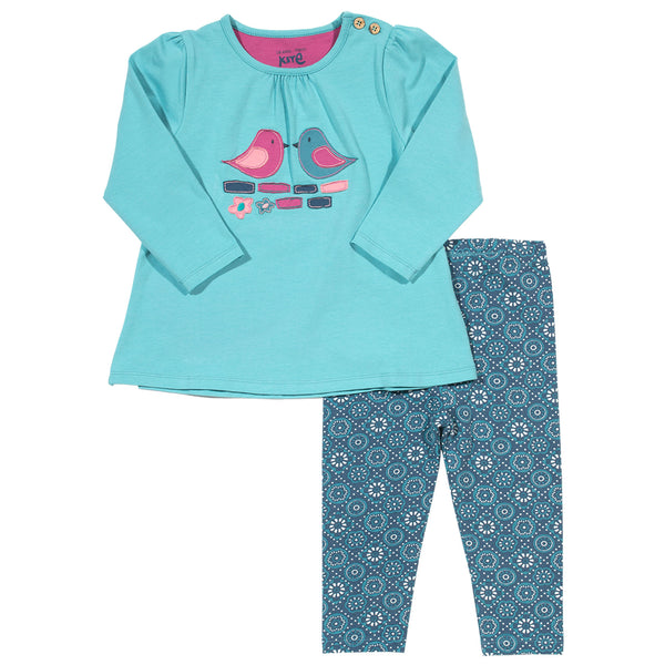 Dickie Bird Top and Legging set. The Little Owl's Nest Children's Clothing