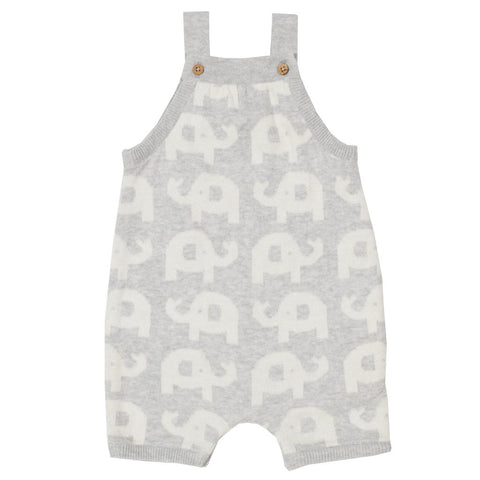 Grey Elephant Knitted Romper. The Little Owl's Nest Children's Clothing