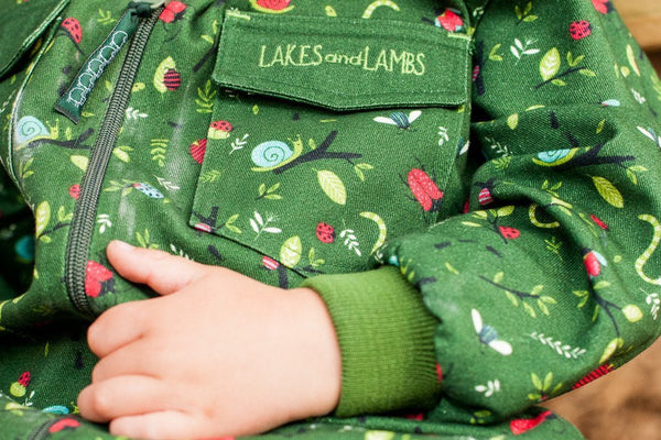 Busy Bugs Boilersuit. The Little Owl's Nest Children's Clothing