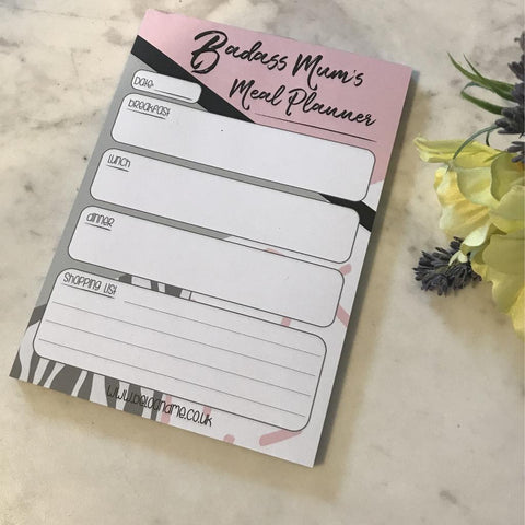 Badass Muma's Meal Planner. The Little Owl's Nest Children's Clothing