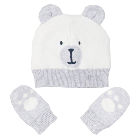 Bear Hat and Mitt Set. The Little Owl's Nest Children's Clothing