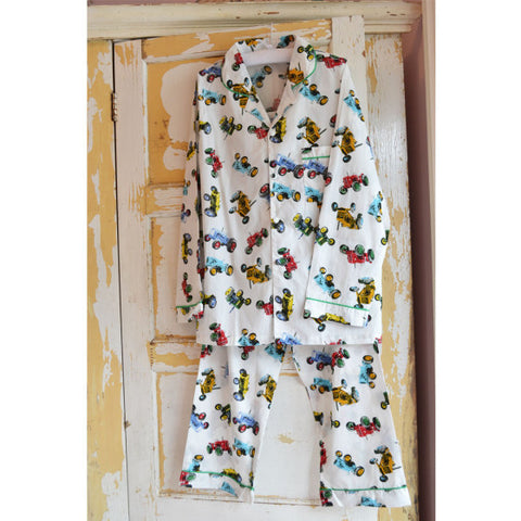 Men's Tractor PJs. The Little Owl's Nest Children's Clothing