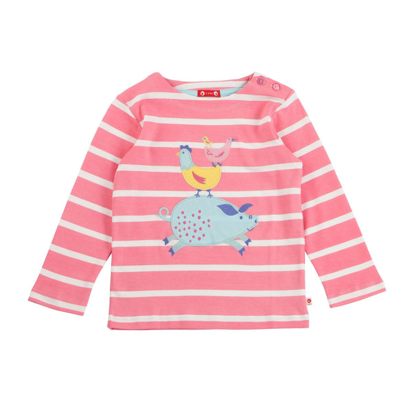 Malham Show striped long sleeve top. The Little Owl's Nest children's clothing