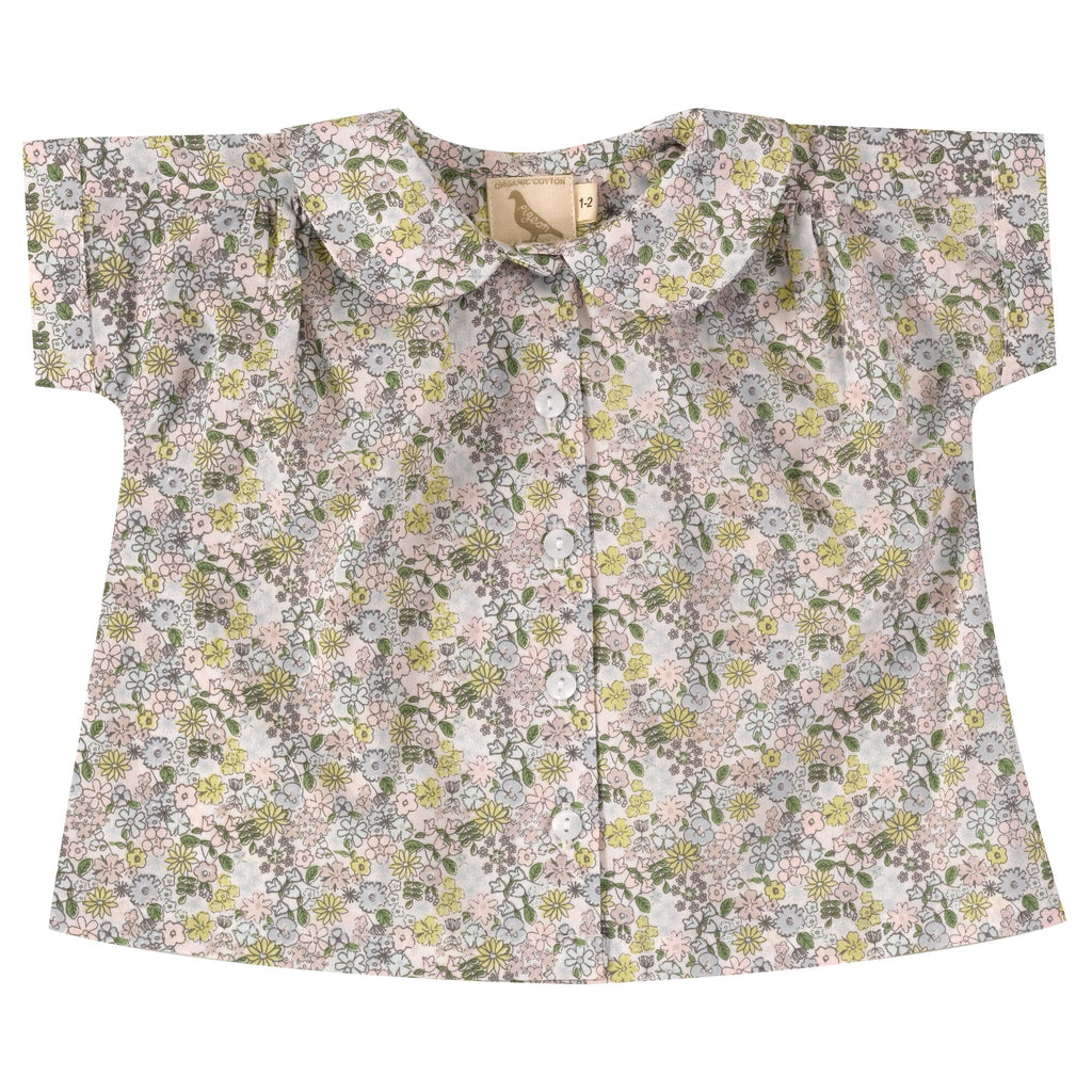 06293a325 Spring ditsy print peter pan collared blouse. The Little Owl's Nest Children's  Clothing