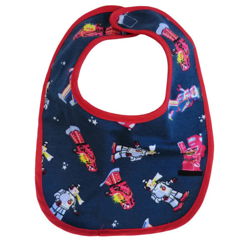 Robot print bib from Powell Craft at The Little Owls Nest.
