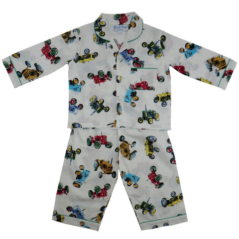 Vintage tractor print pjs from Powell Craft at The Little Owls Nest.