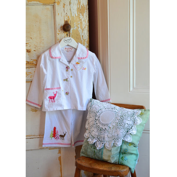 Girls Christmas Pyjamas. The Little Owl's Nest Children's Clothing