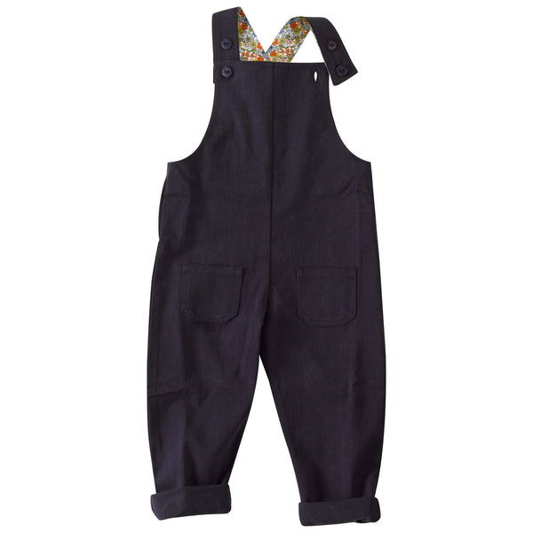 Slouchy Dungaree with Ditsy print. The Little Owl's Nest Children's Clothing