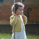 Yellow pointelle cardigan. The Little Owl's Nest Children's Clothing