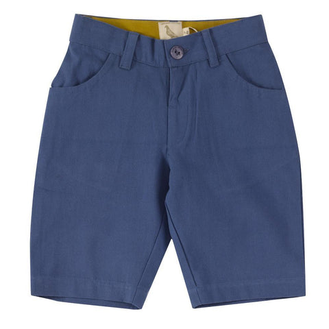 Blue Canvas Shorts. The Little Owl's Nest Children's Clothing