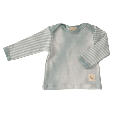 Turquoise Thin Stripe Long Sleeve Top. The Little Owl's Nest Children's Clothing