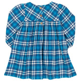 Blue Check Party Dress. The Little Owl's Nest Children's Clothing