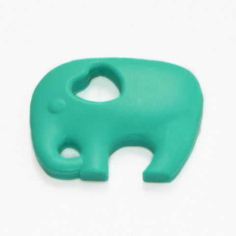 Aqua elephant teether. The Little Owl's Nest Children's Clothing
