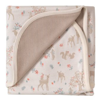 Winter Woodland Reversible Blanket. The Little Owl's Nest Children's Clothing