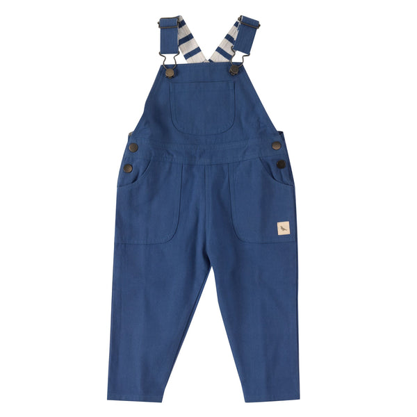 Blue Worker Dungarees. The Little Owl's Nest Children's Clothing