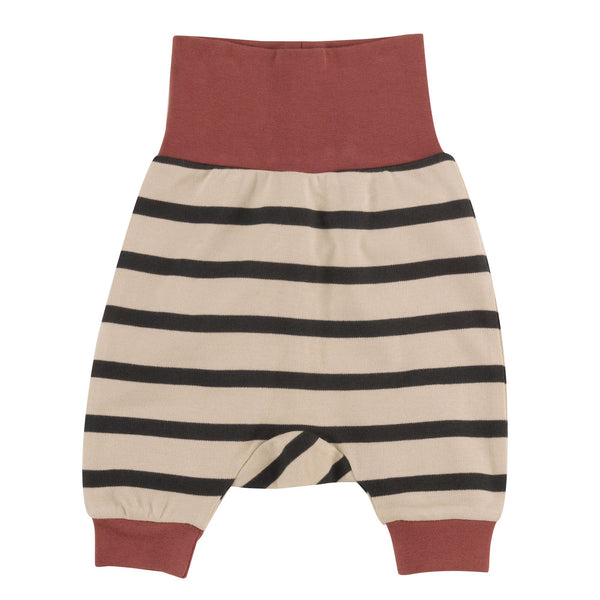 Baby Joggers in Pumice with Black Stripe. The Little Owl's Nest Children's Clothing