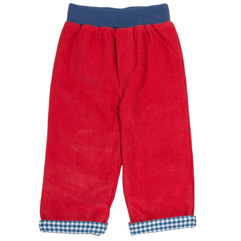 Easy Pull on Reversible Trousers. The Little Owl's Nest Children's Clothing