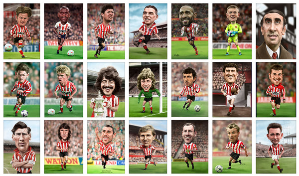 46 6x4 SAFC caricature prints