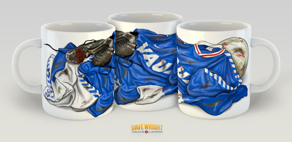 Hummel 88-91-away kit  (Sunderland AFC) mug - by Dave Wright