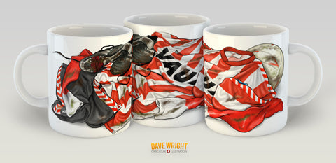 All the kit - Hummel 88-91 (Sunderland AFC) mug - by Dave Wright