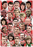 Red & White Legends poster print