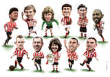 Red & White Legends (Sunderland AFC) Limited edition caricature print