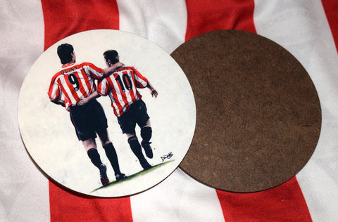 'The Perfect Match' Niall Quinn and Kevin Phillips, Sunderland AFC - drinks coaster