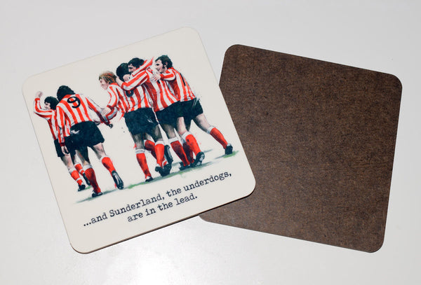 SLIGHT SECONDS 'The Underdogs'  Sunderland 1973 drinks coaster.