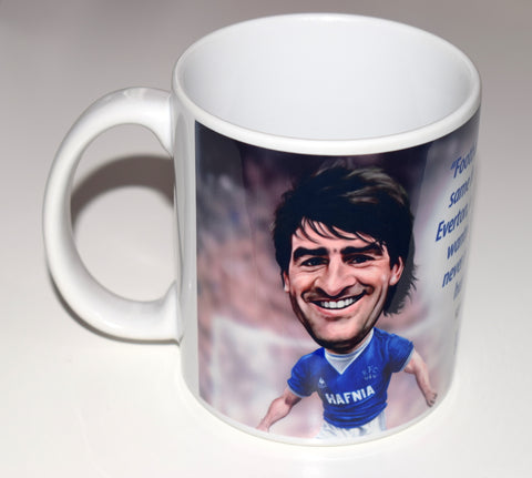 CLEARANCE - SLIGHT SECONDS Kevin Ratcliffe, (Everton FC) Caricature Mug