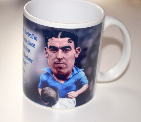 CLEARANCE - SLIGHT SECONDS Dixie Dean, (Everton FC) Caricature Mug