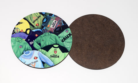 Sunderland - 'Classic goalkeeper kits' drinks coaster.