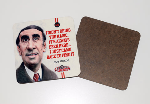 Bob Stokoe - Sunderland Legend -  drinks coaster.