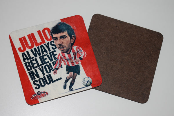 SLIGHT SECONDS Julio Arca drinks coaster.