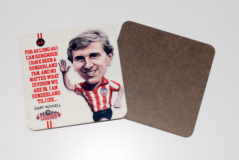 Gary Rowell - Sunderland Legend -  drinks coaster.