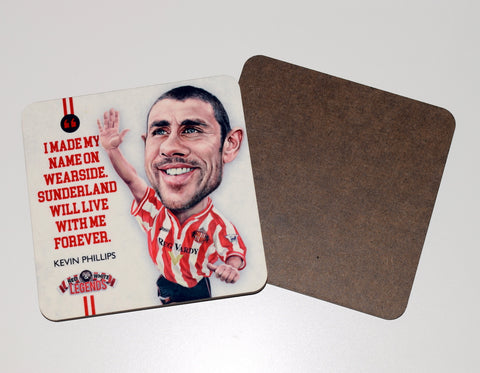 Kevin Phillips - Sunderland Legend -  drinks coaster.