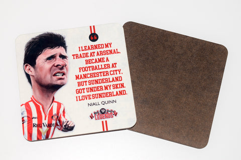 Niall Quinn - Sunderland Legend -  drinks coaster.