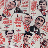 Len Shackleton - Sunderland Legend -  drinks coaster.