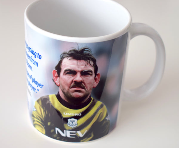 CLEARANCE - SLIGHT SECONDS Neville Southall, (Everton FC) Caricature Mug