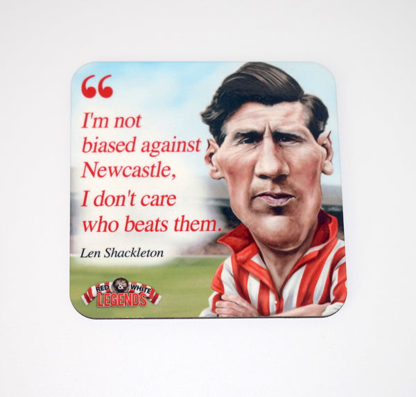 CLEARANCE - Len Shackleton - Sunderland AFC drink coaster