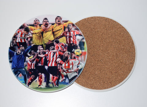 'The Joy of Six' Sunderland AFC  Ceramic drinks coaster.
