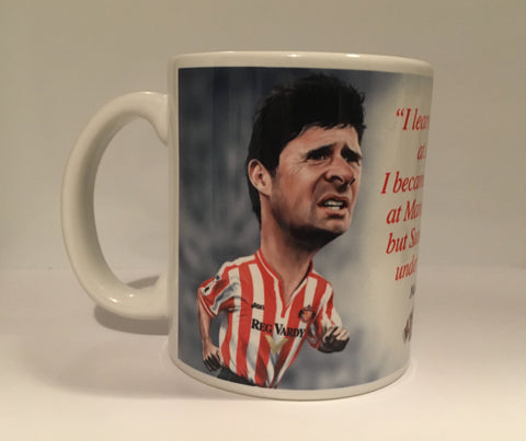 CLEARANCE - SLIGHT SECONDS Niall Quinn, (Sunderland AFC) Caricature Mug