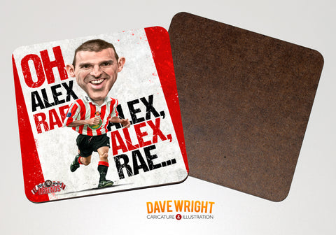 Alex Rae - Sunderland cult hero-  drinks coaster.