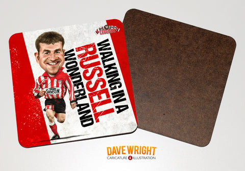 Craig Russell - Sunderland cult hero -  drinks coaster.