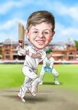 Bespoke Cricket caricature - unframed