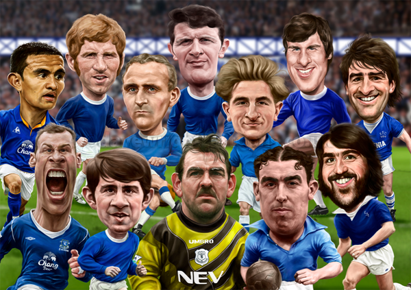 'Goodison Greats' (Everton FC) Limited Edition print (A3 or A4 size)