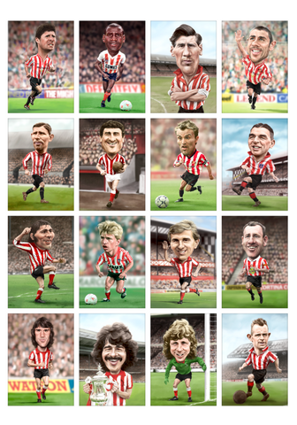 16 Legends - (Sunderland AFC) Limited edition large print