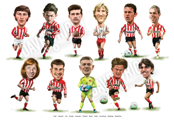 'Homegrown Heroes'- Limited edition caricature print