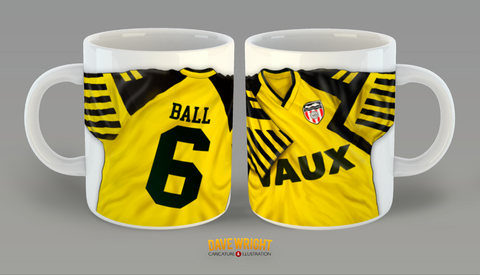 Personalised Sunderland AFC 1993-1994 away third shirt mug