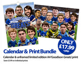 'Goodson Greats' (Everton FC) Calendar & Limited Edition A4 print bundle