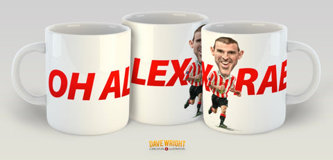 Alex Rae, Red & White Legends (Sunderland AFC) Caricature Mug